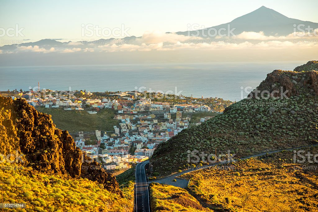 San Sebastian city on La Gomera island stock photo