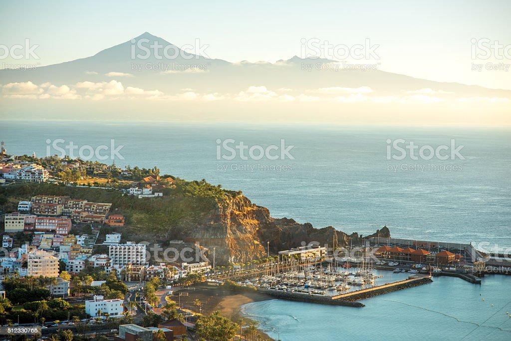 San Sebastian cityscape stock photo