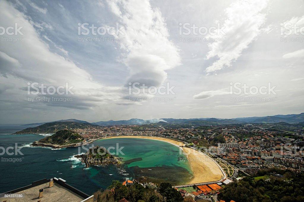 San Sebastian Donostia stock photo