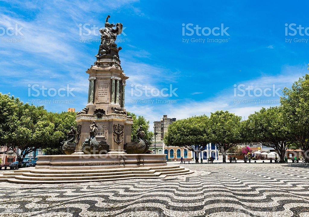 San Sebastian Square in Manaus downtown, Brazil stock photo