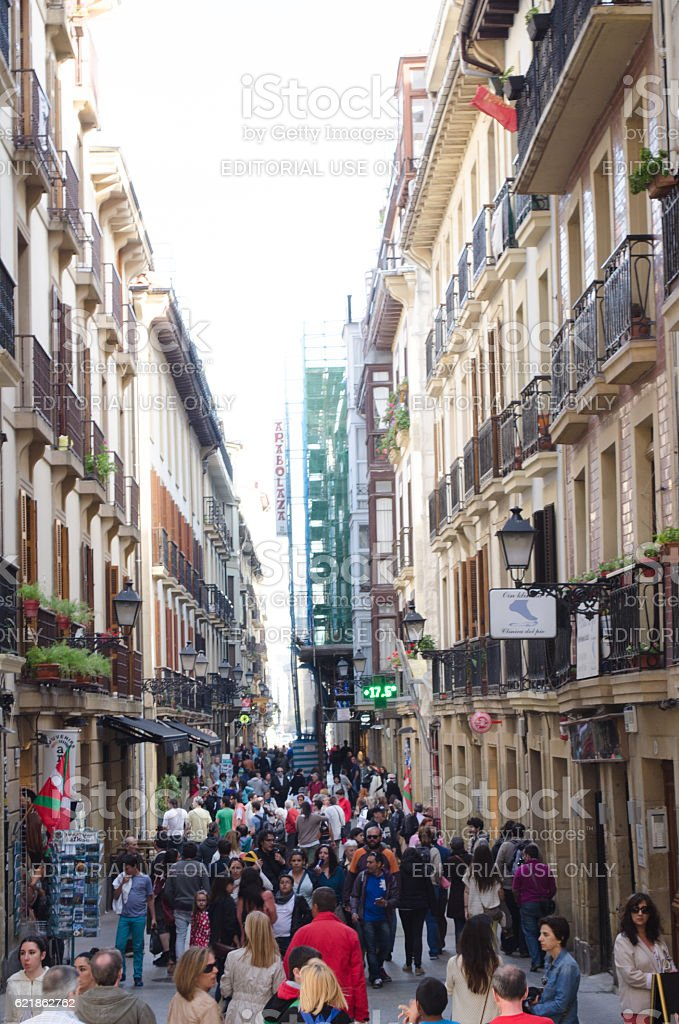 San Sebastian street stock photo