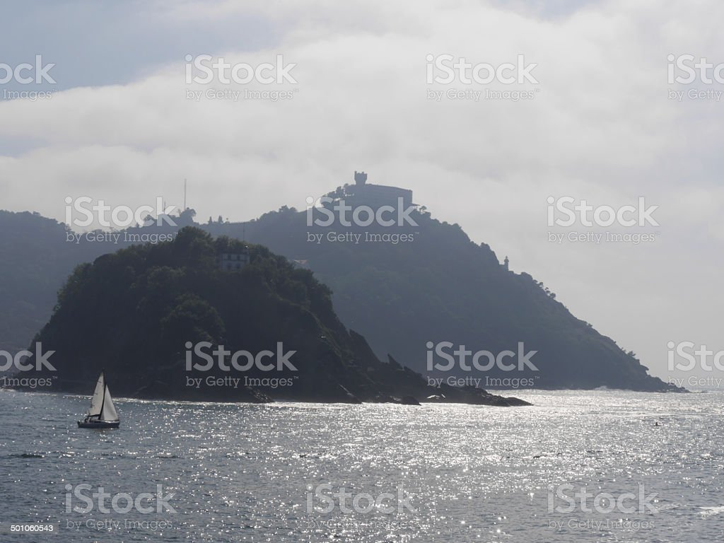 san sebastian velero stock photo