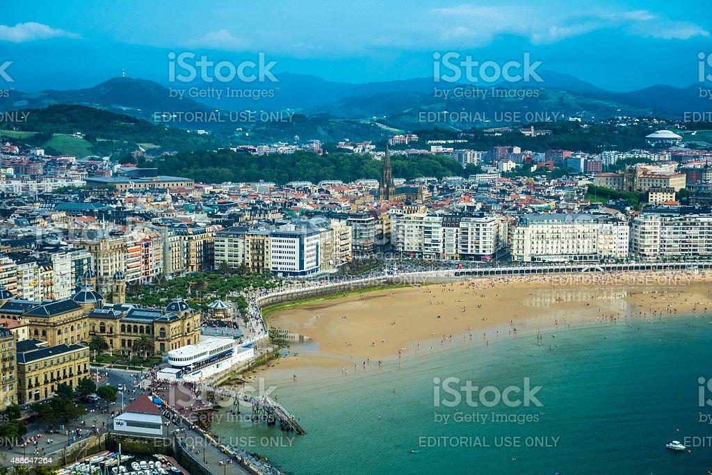 San Sebastian view stock photo
