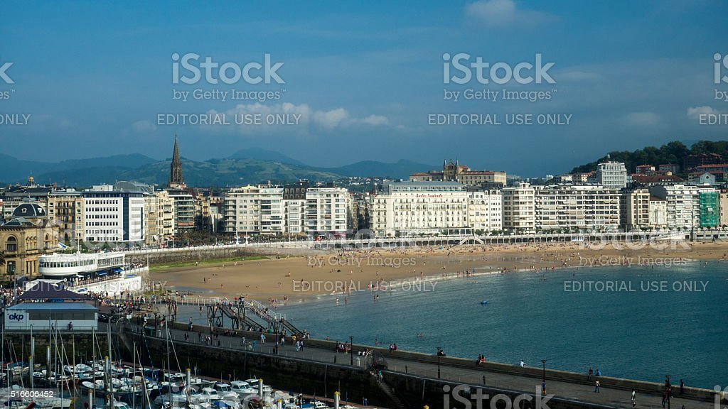 San Sebastian view stock photo
