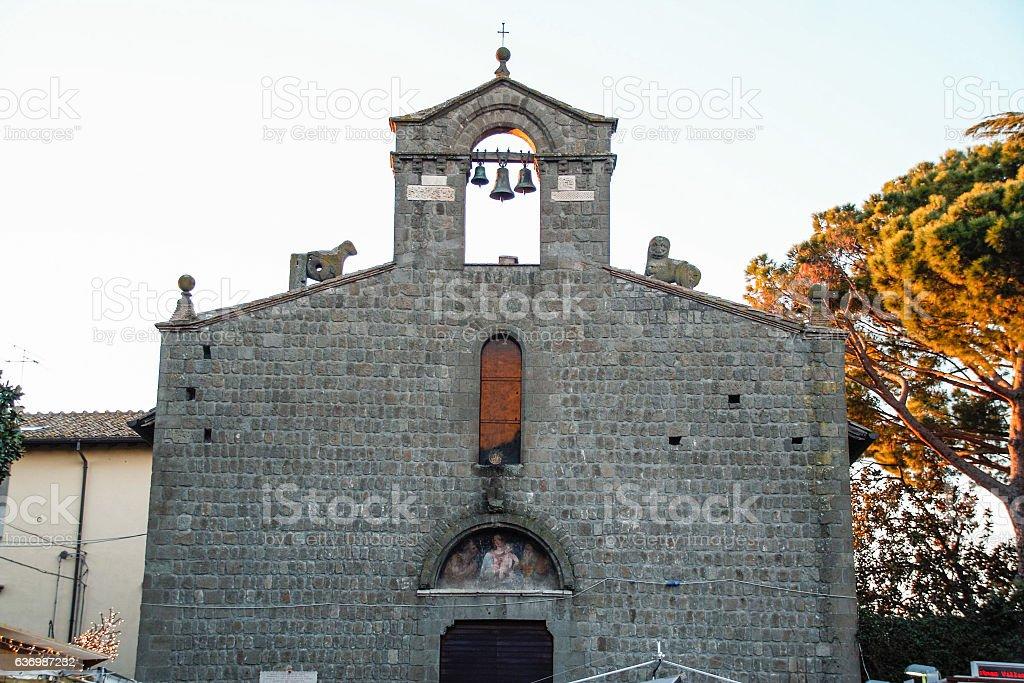 San Silvestro church at Viterbo stock photo