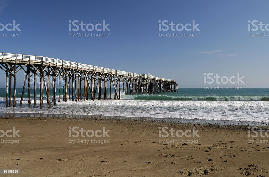 San Simeon Pier stock photo