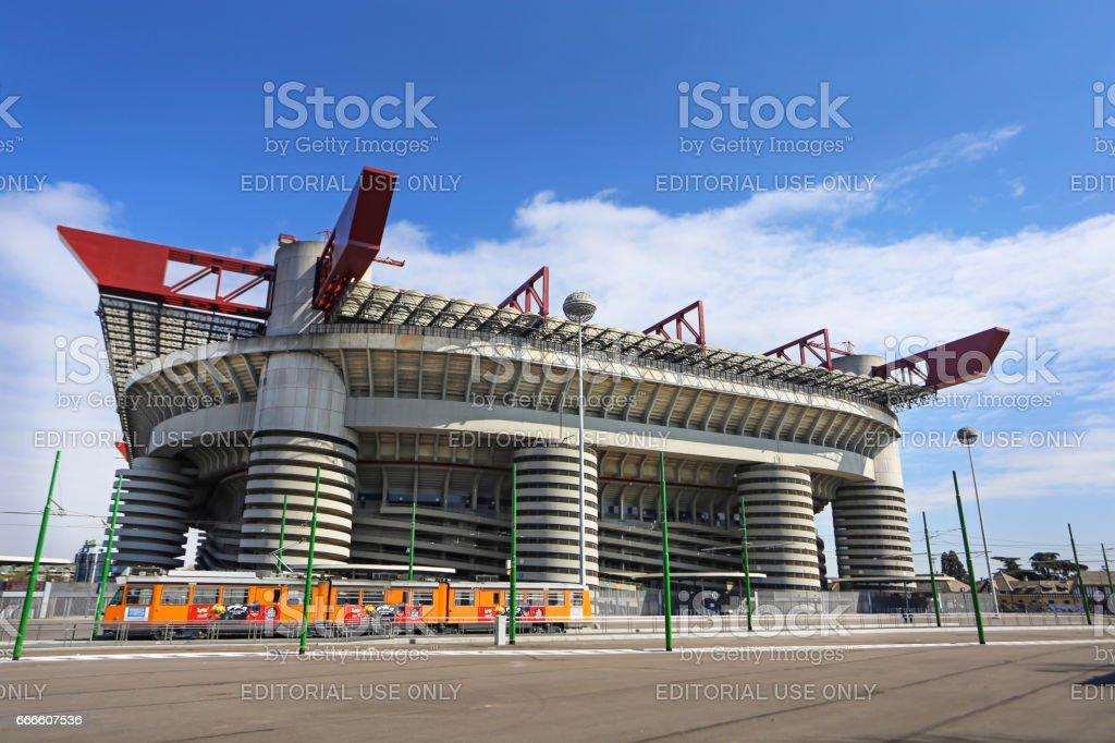 San Siro Stadium Milan stock photo