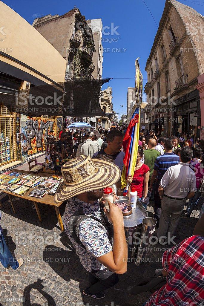 San Telmo Sunday Market royalty-free stock photo