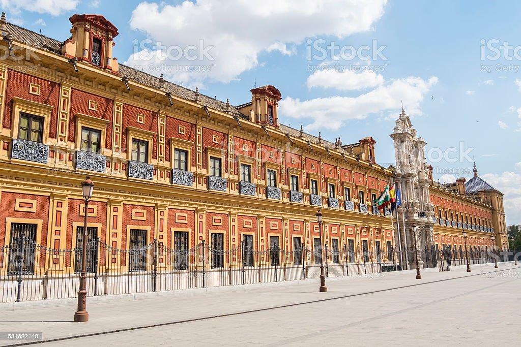 San Temo Palace, Seville, Spain (Palacio de San Telmo, Sevilla) stock photo
