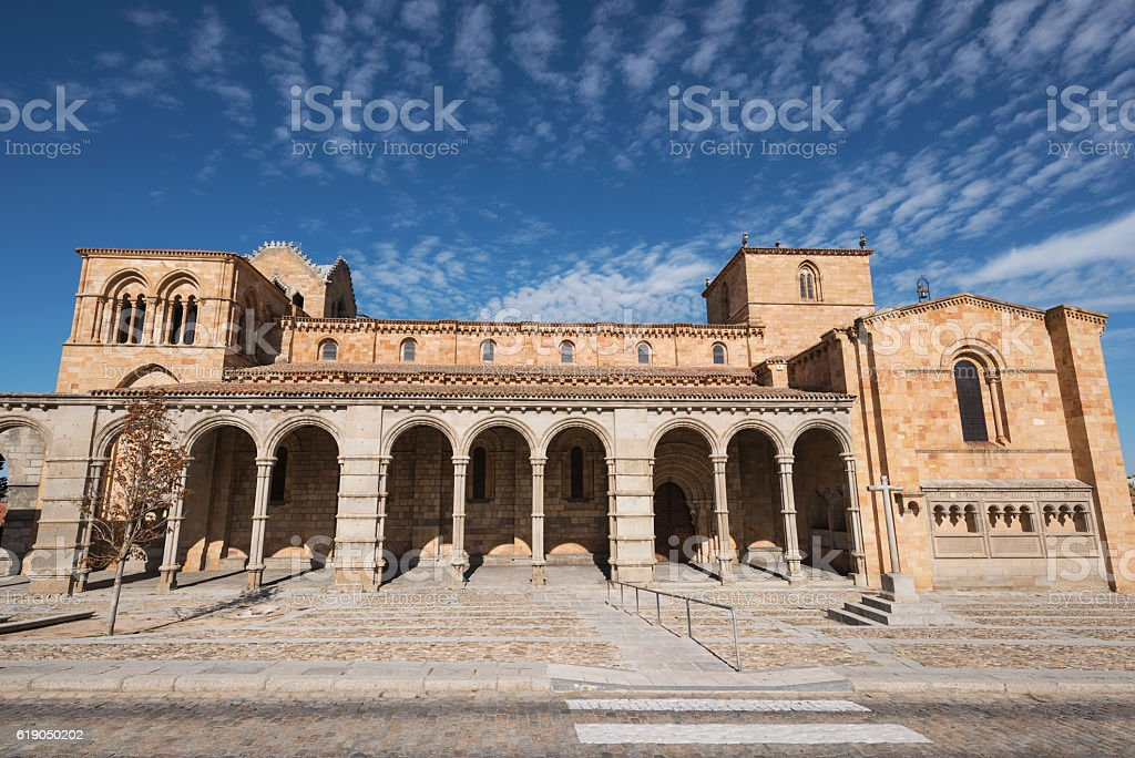 San Vicente basilica in Avila, Spain stock photo