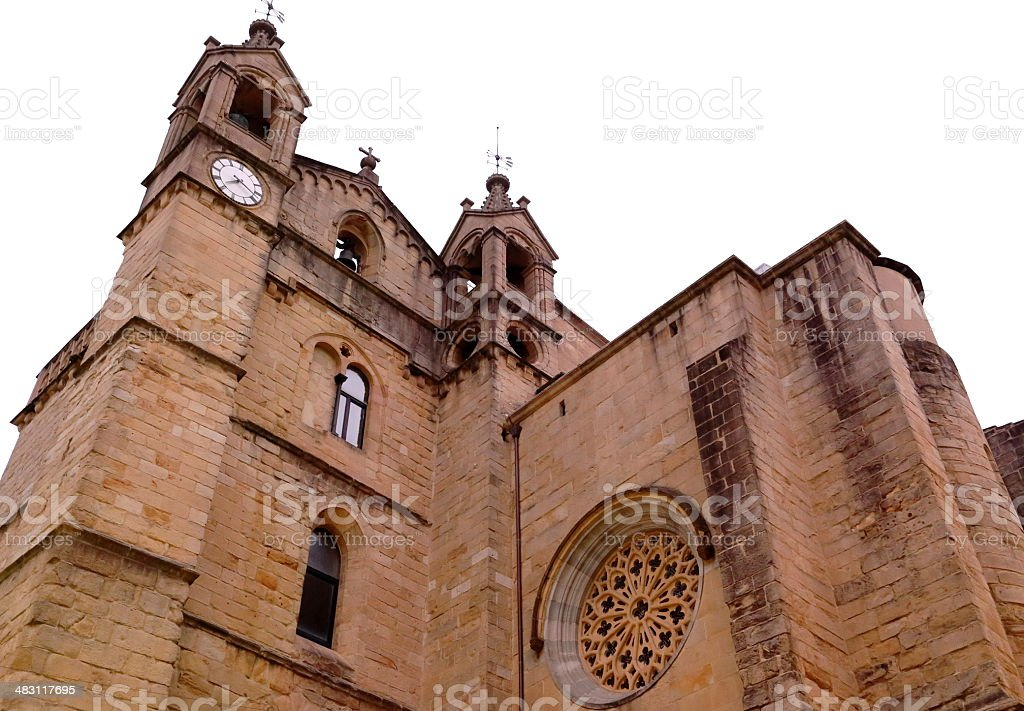 San Vicente church-Donostia royalty-free stock photo