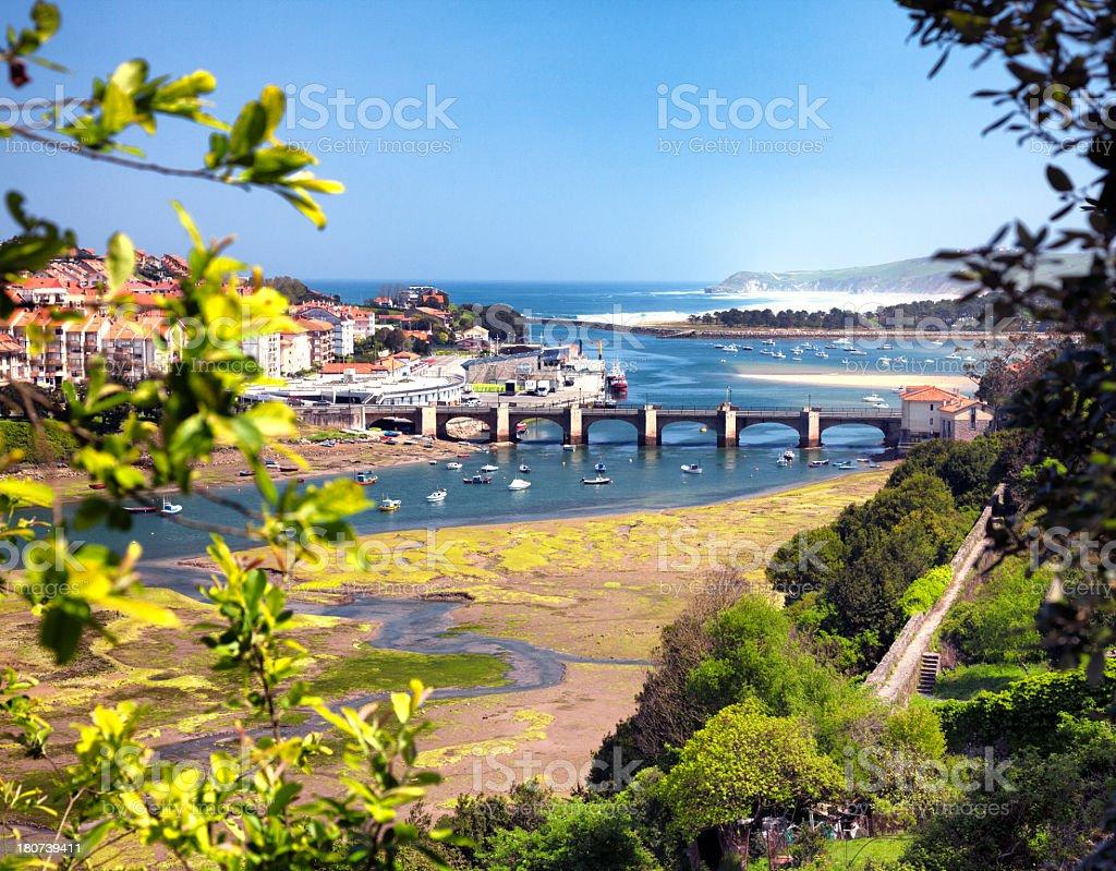 San Vicente de la Barquera, Cantabria, Spain royalty-free stock photo