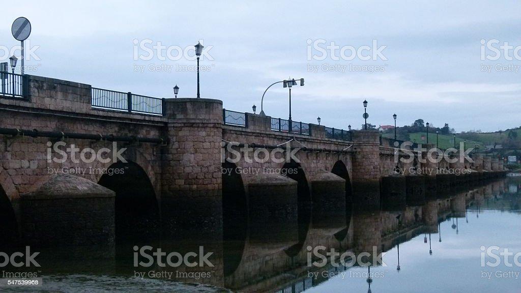 San Vicente de la Barquera (bridge) stock photo