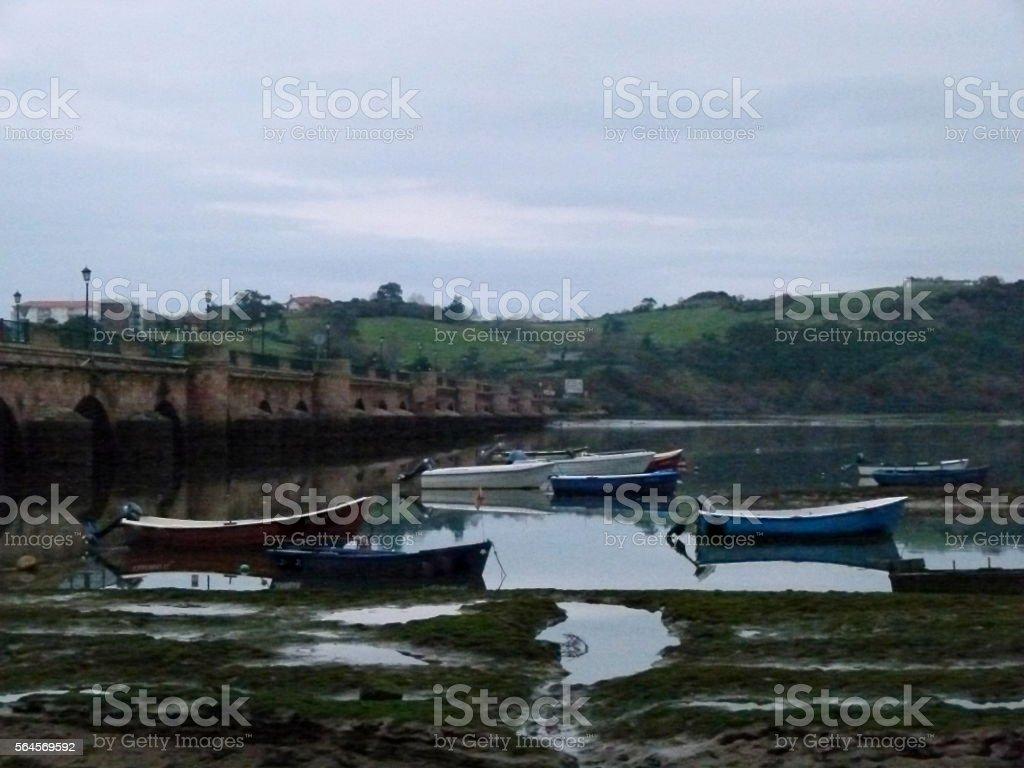 San Vicente de la Barquera stock photo