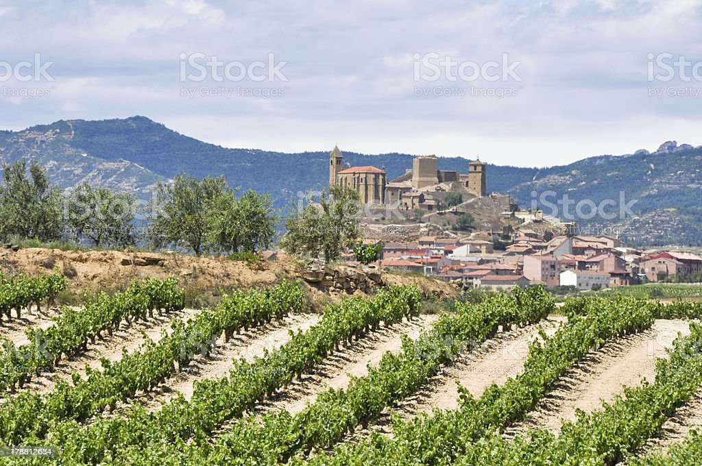 San Vicente of Sonsierra, La Rioja (Spain) stock photo