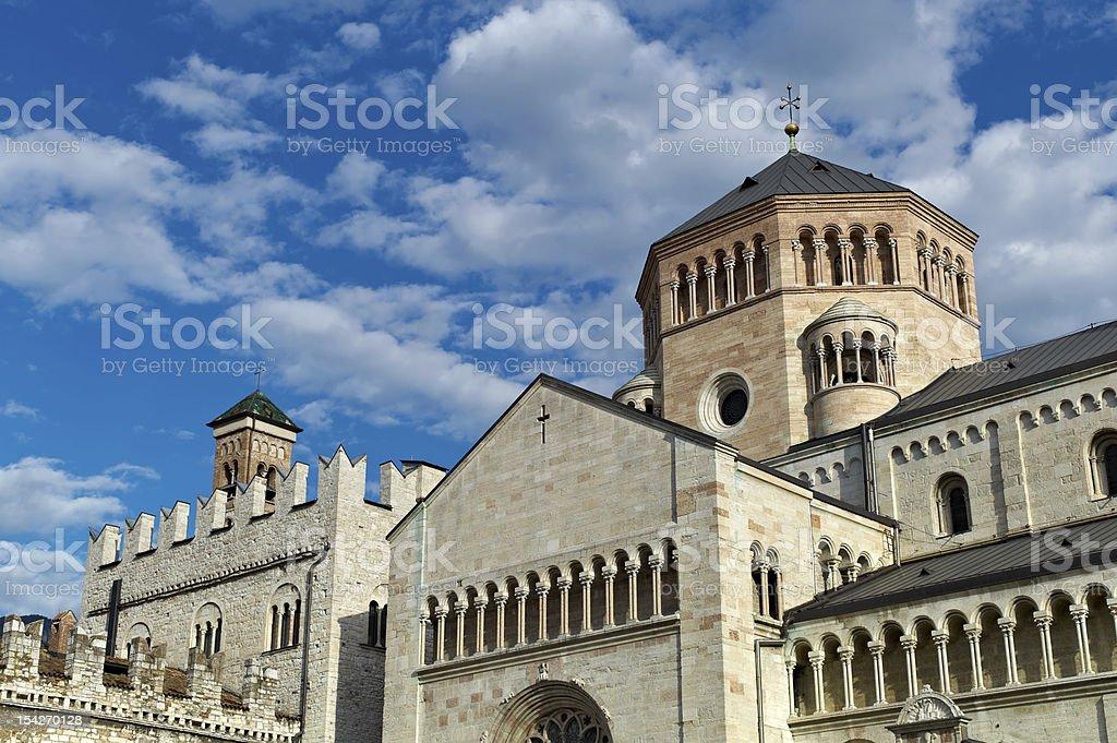 San Vigilio Cathedral in Trento stock photo