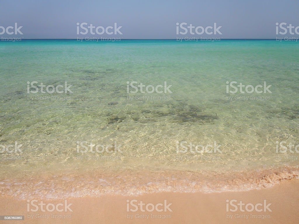 San Vito lo Capo beach stock photo