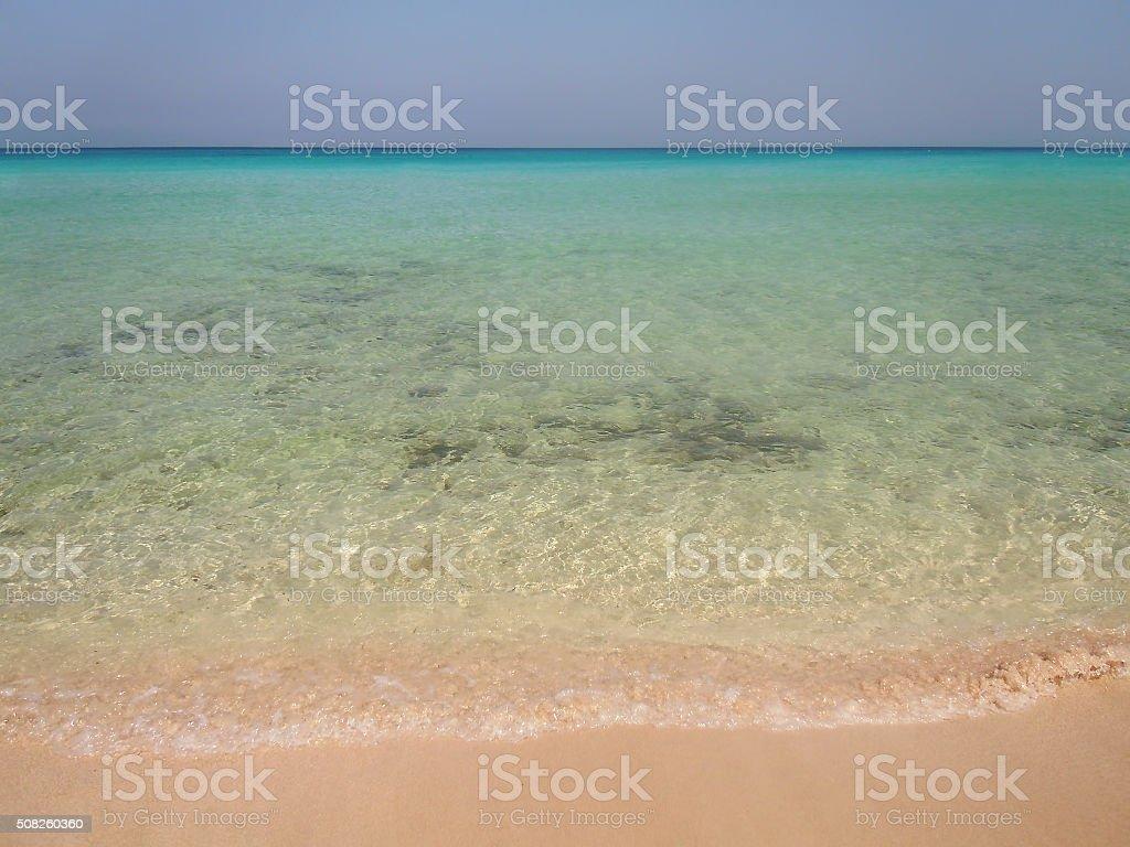 San Vito lo Capo beach stock photo