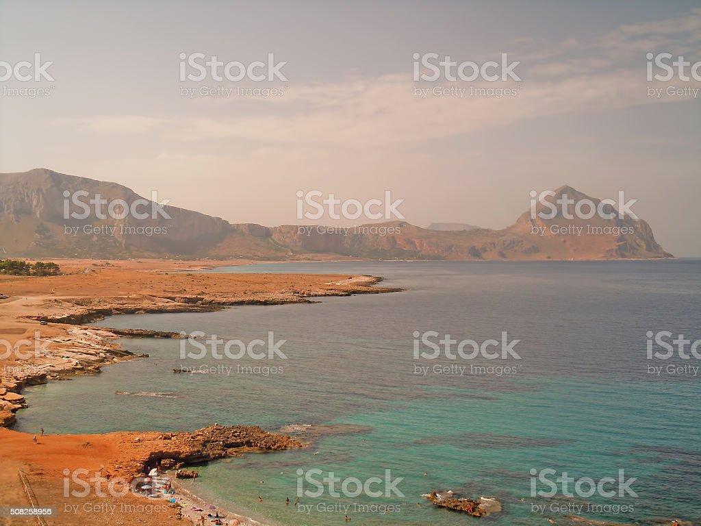 San Vito lo Capo Gulf stock photo