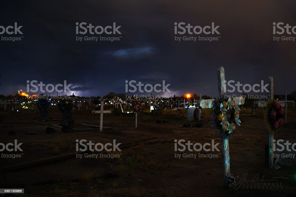 San Xavier Cemetary stock photo