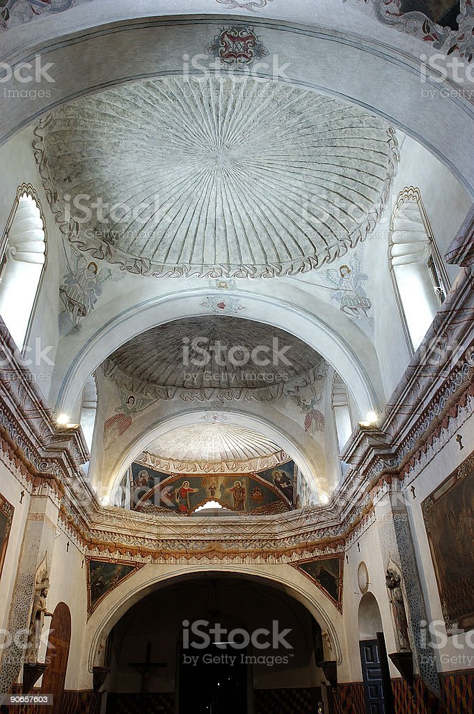 San Xavier del Bac Mission interior details royalty-free stock photo