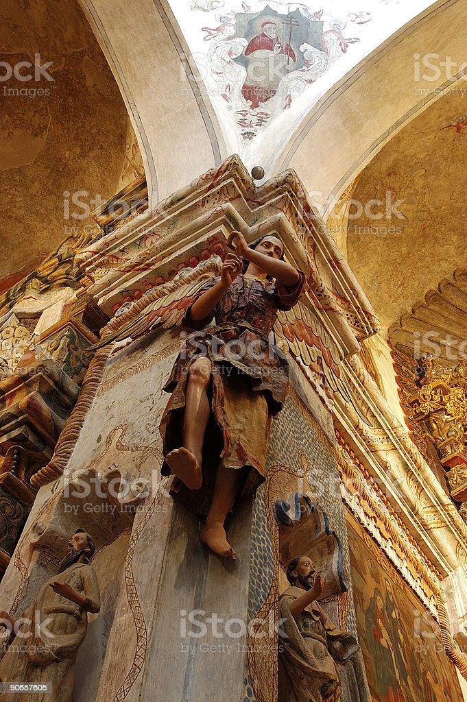 San Xavier del Bac Mission interior royalty-free stock photo
