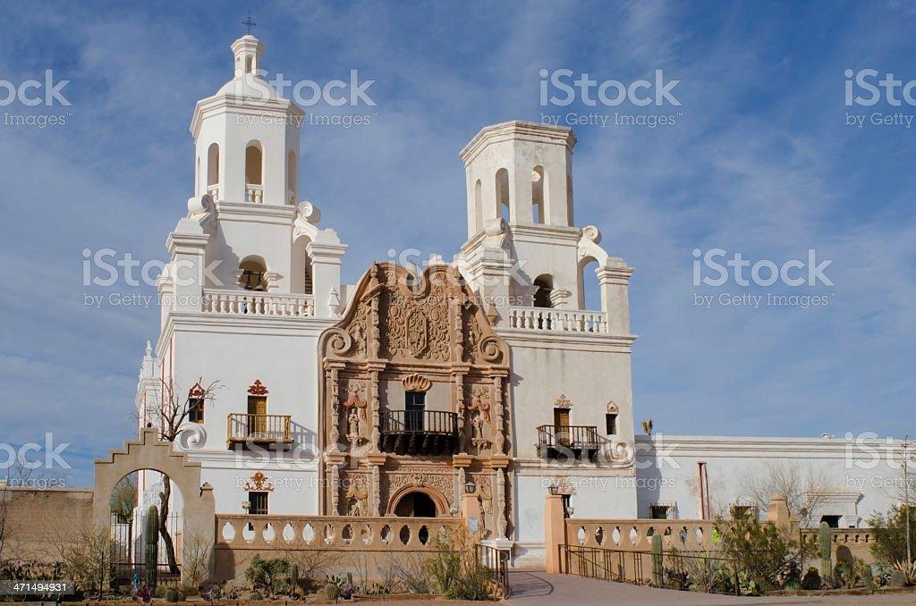 San Xavier del Bac Mission royalty-free stock photo