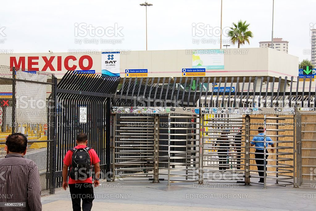 San Ysidro Port of Entry stock photo