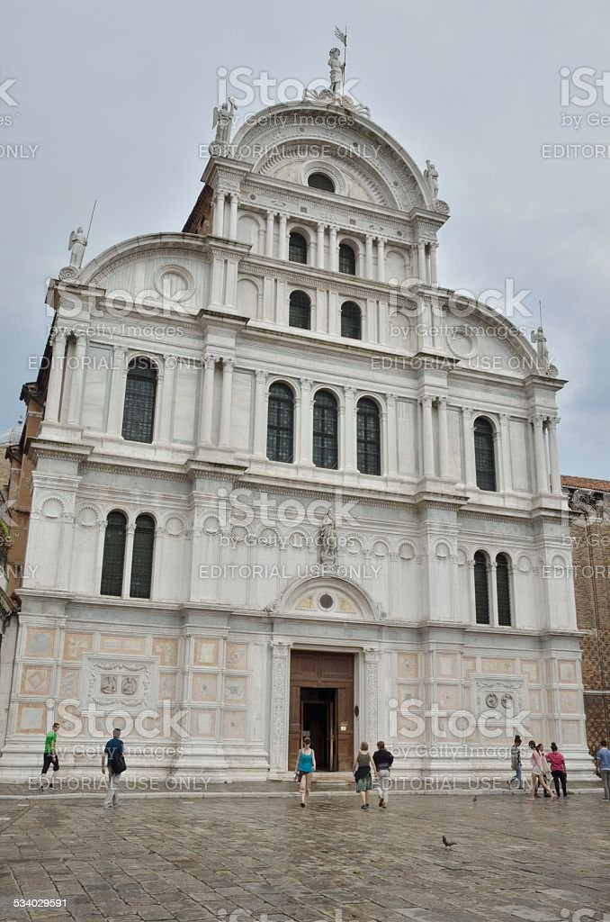 San Zaccaria church stock photo