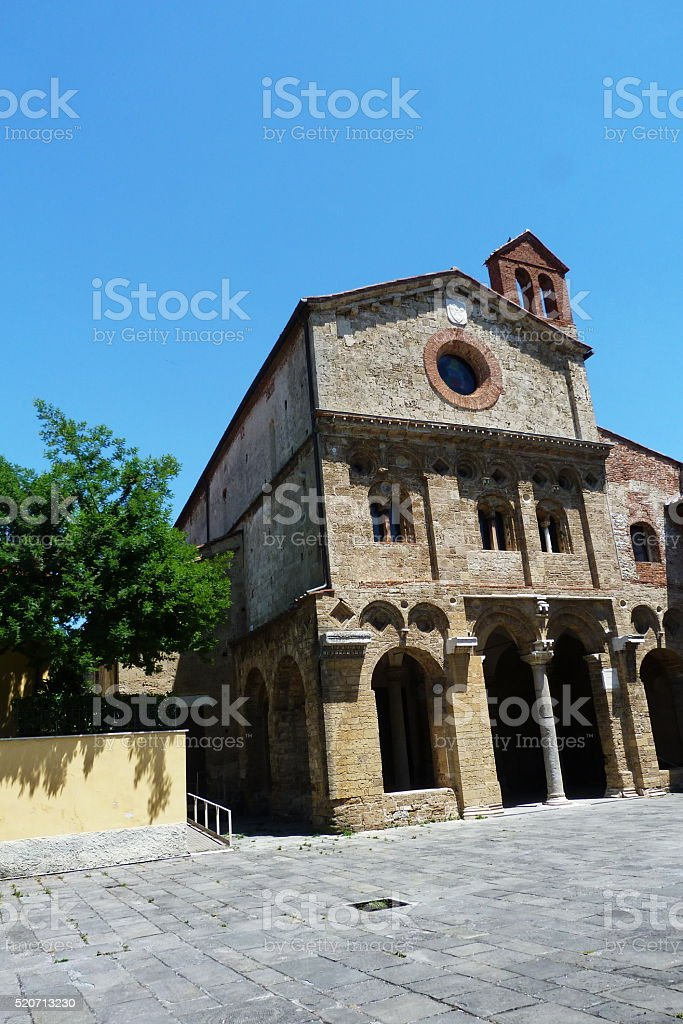 San Zeno abbey, Pisa stock photo