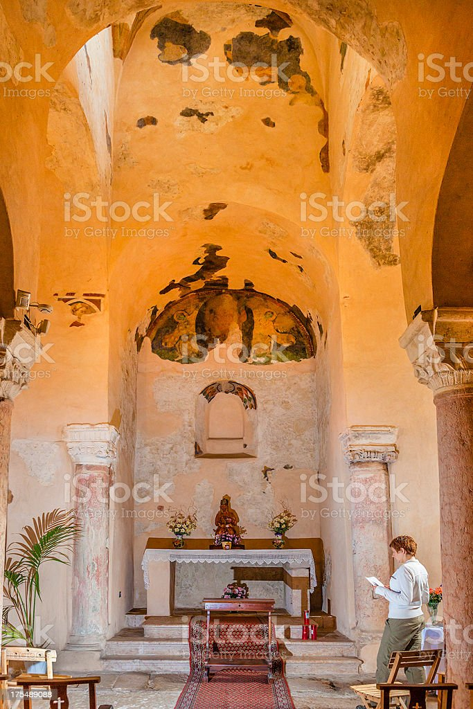 San Zeno Church, Bardolino, Italy royalty-free stock photo