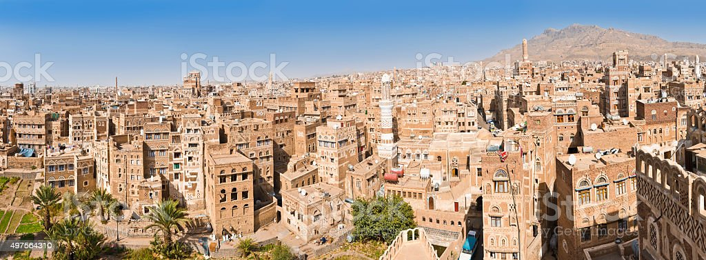 sana city Yemen stock photo
