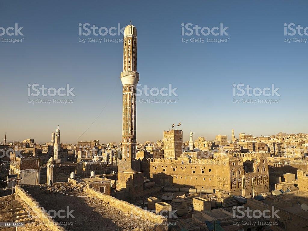 Sanaa architecture royalty-free stock photo