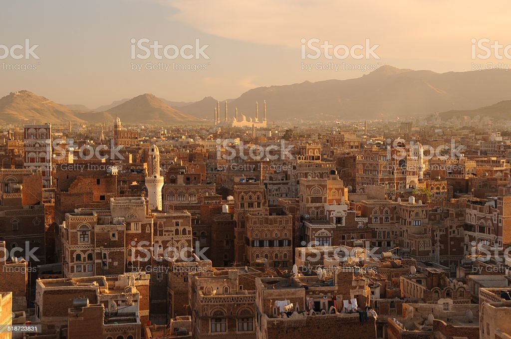 Sanaa Panorama stock photo