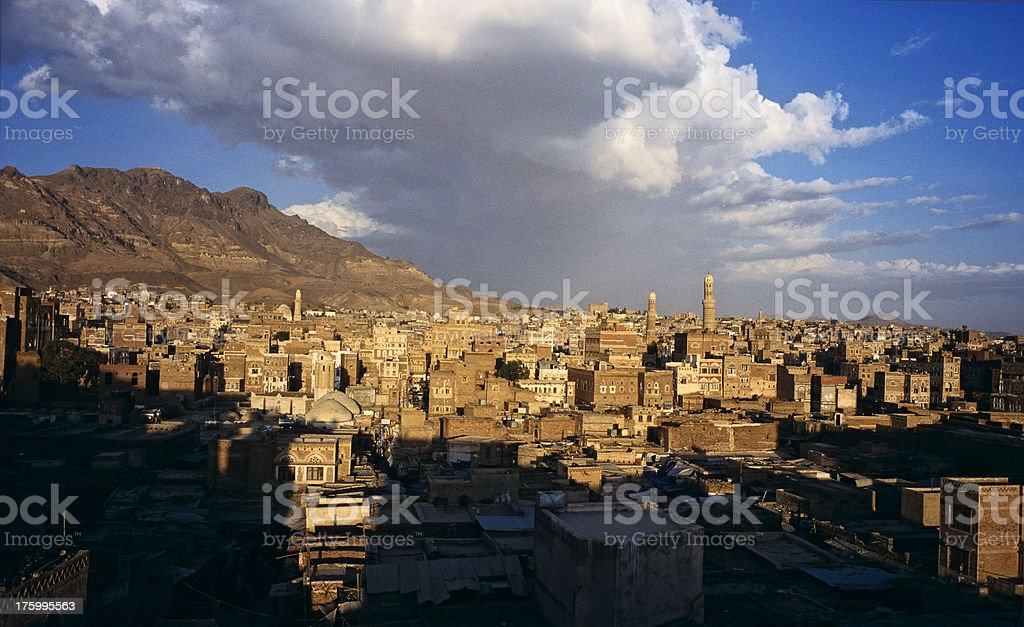 sanaa, the old city stock photo