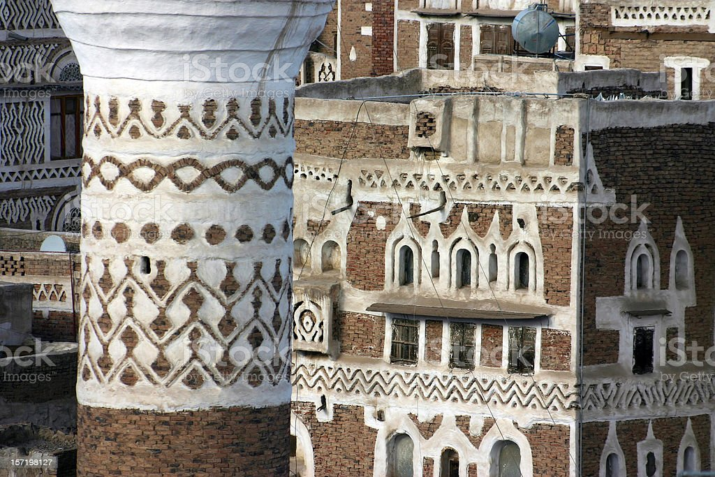 Sana'a's architecture royalty-free stock photo