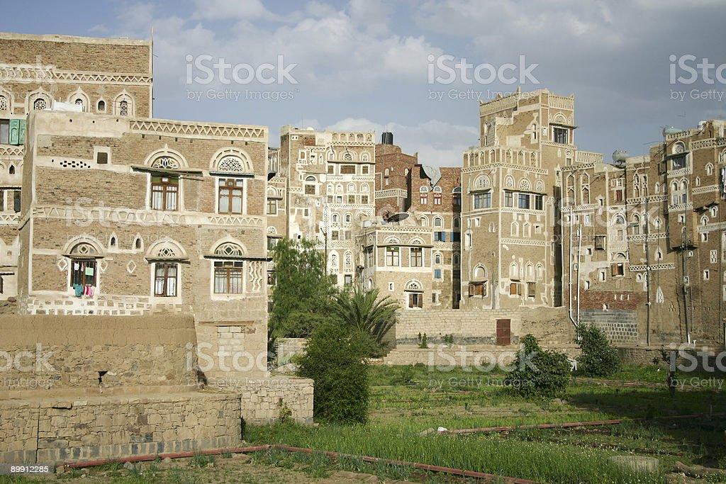 Sana'a's architecture royalty-free stock photo