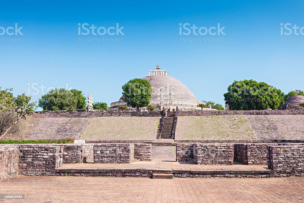 Sanchi Stupa, India stock photo