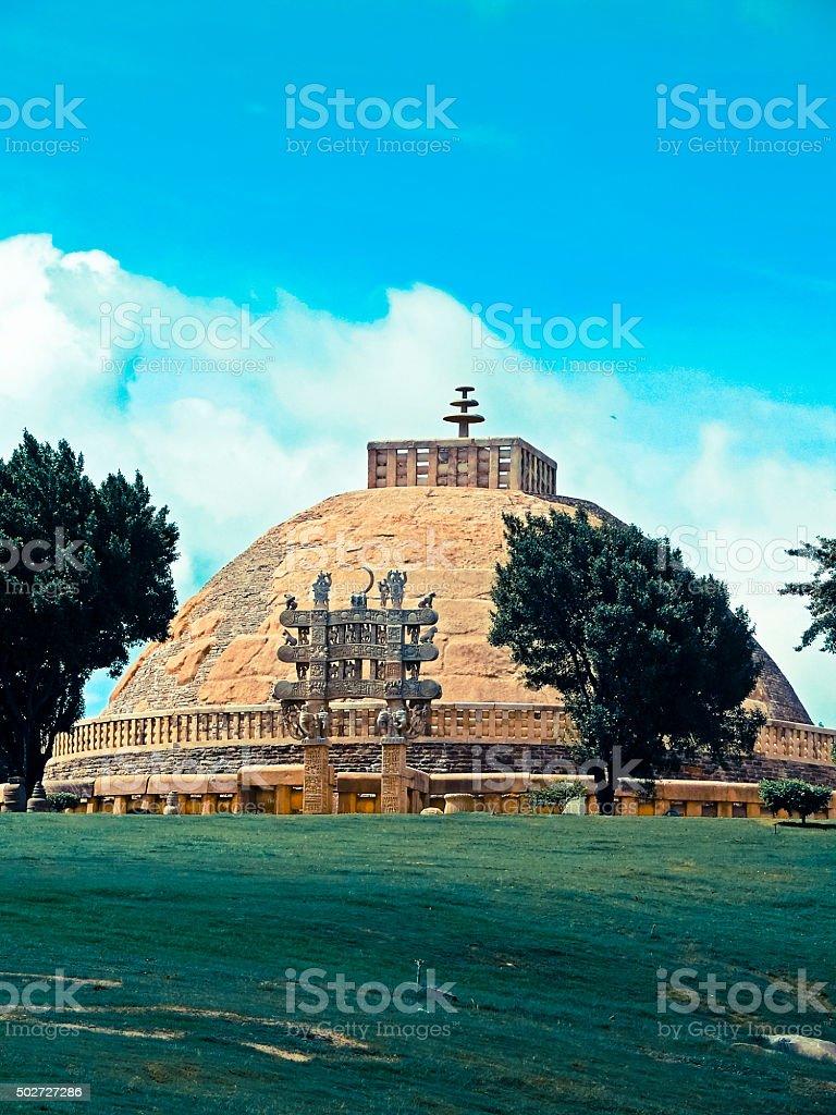 Sanchi Stupa No. one, Sanchi, Madhya pradesh, India stock photo