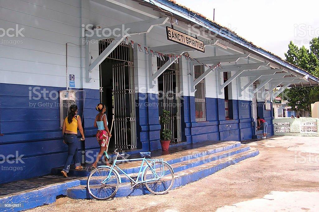 sancti spiritus station stock photo