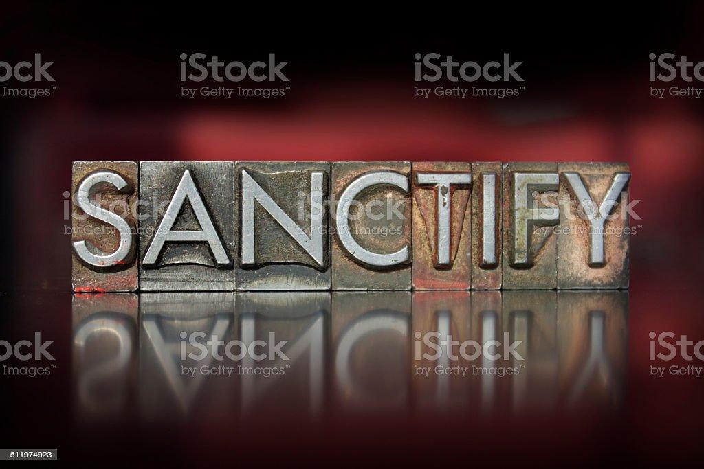 Sanctify Letterpress stock photo