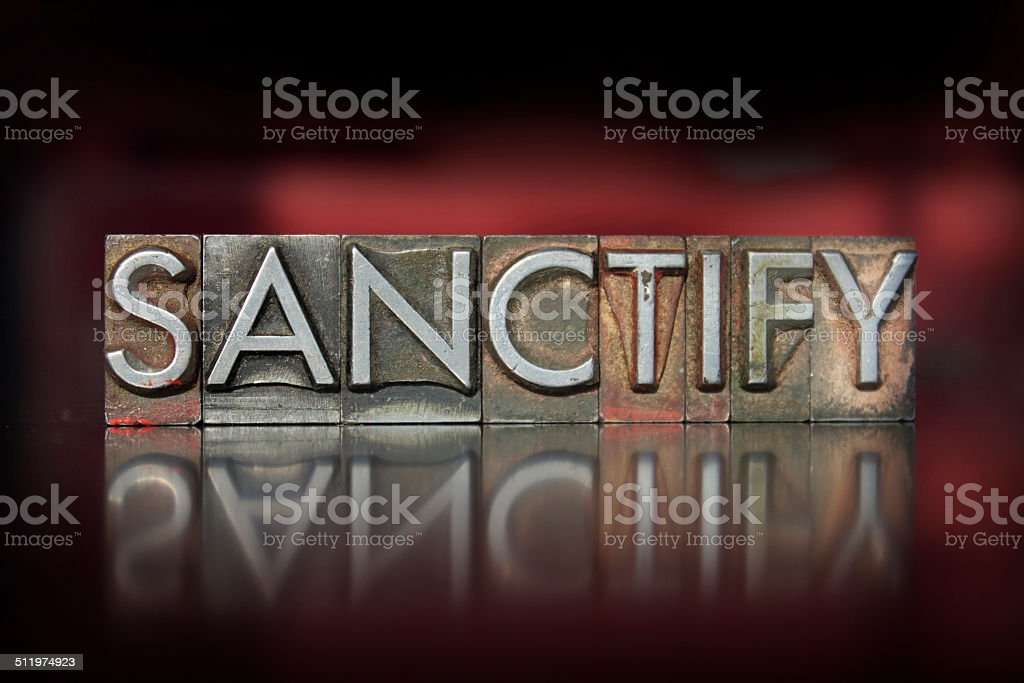 Sanctify Letterpress stock photo