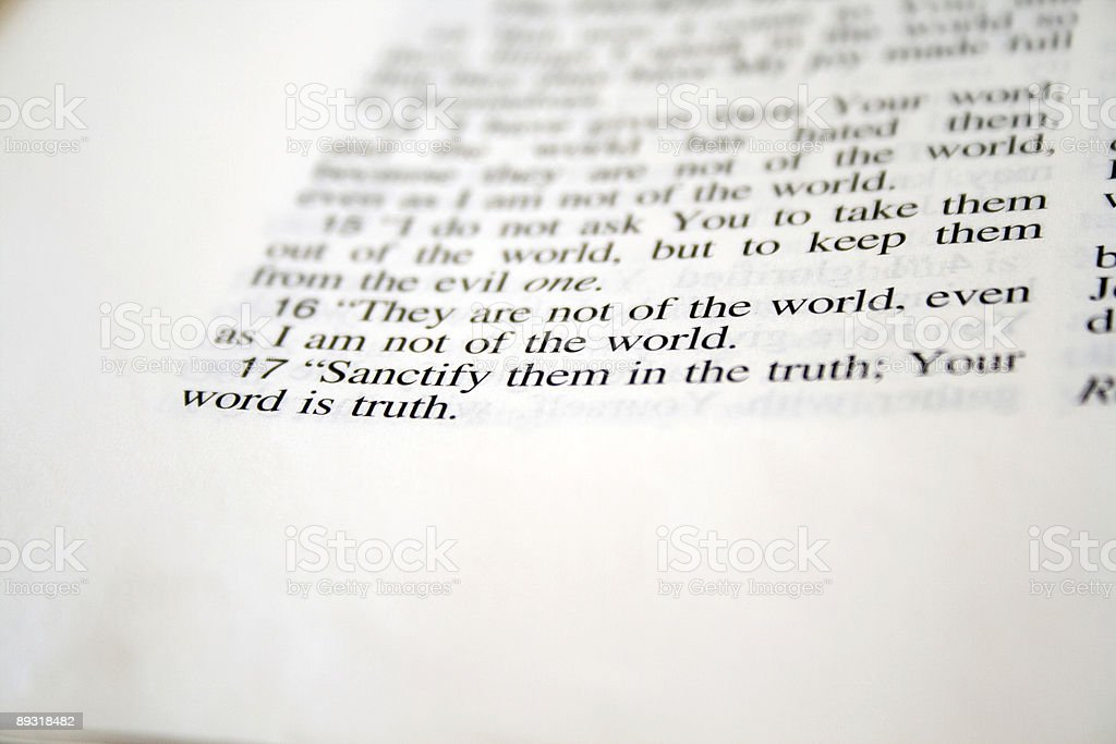 Sanctify them in the truth... stock photo