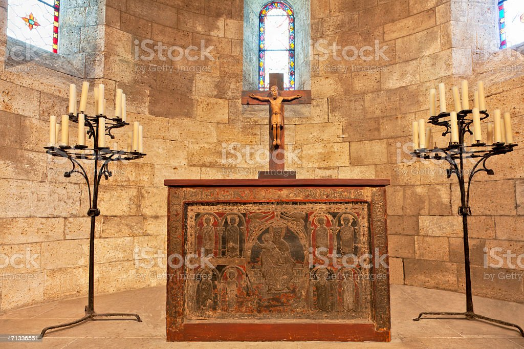Sanctuary at the Cloisters stock photo