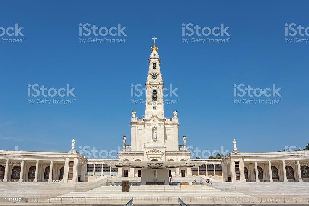 Sanctuary Church in Fatima Portugal. stock photo