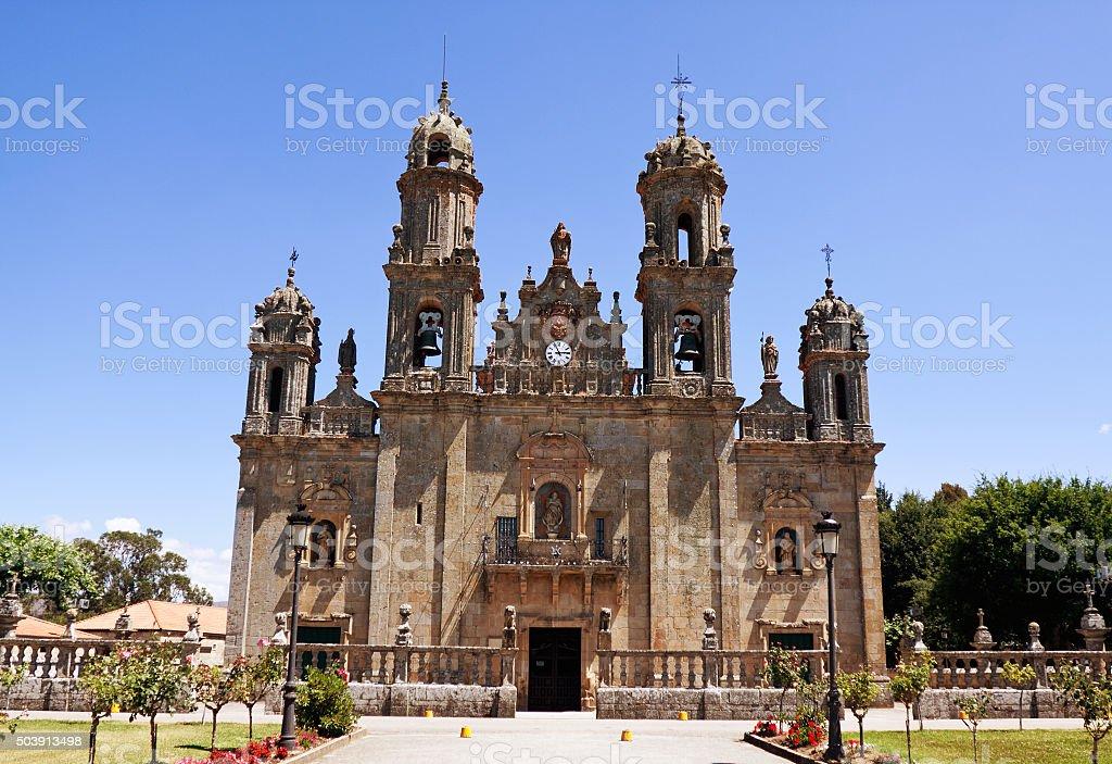 Sanctuary Dos Milagres, Orense, Spain stock photo