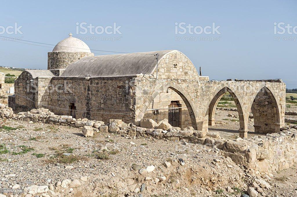 Sanctuary of Aphrodite (12th century B.C.). Kouklia village,  Cyprus. stock photo