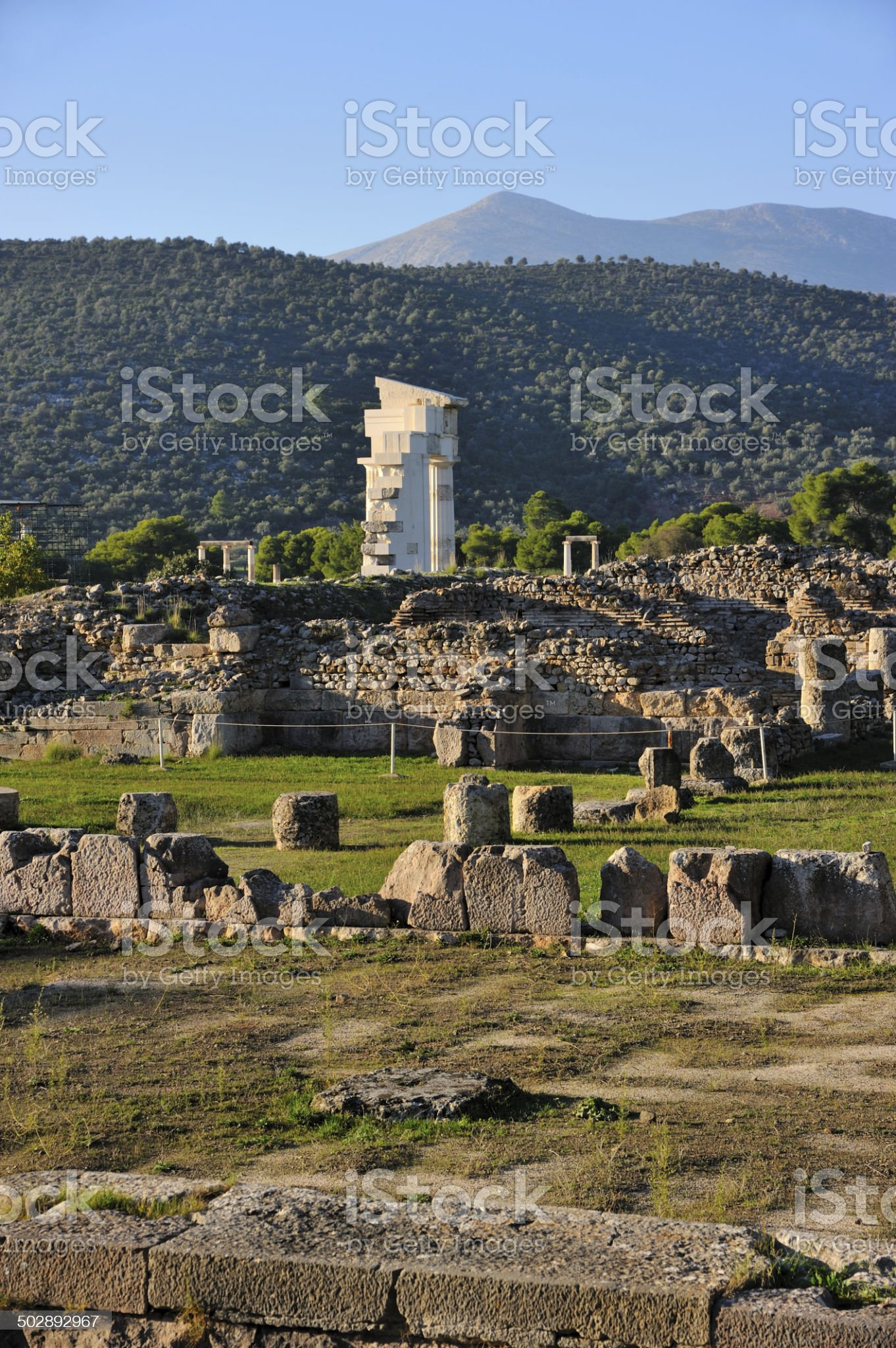 Sanctuary of Asklepios royalty-free stock photo
