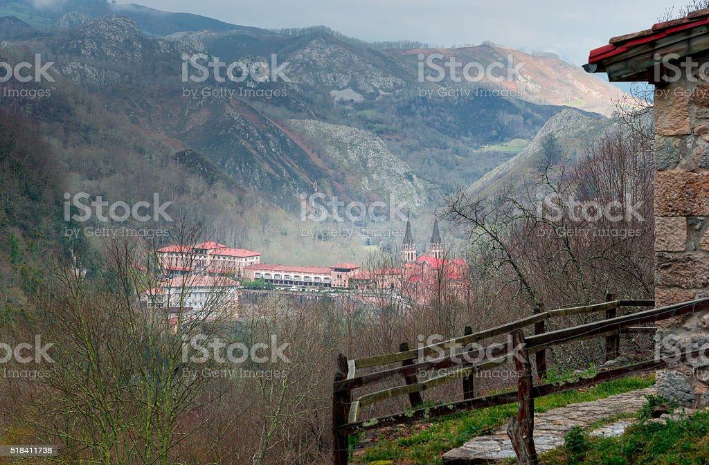 Sanctuary of Covadonga VII stock photo