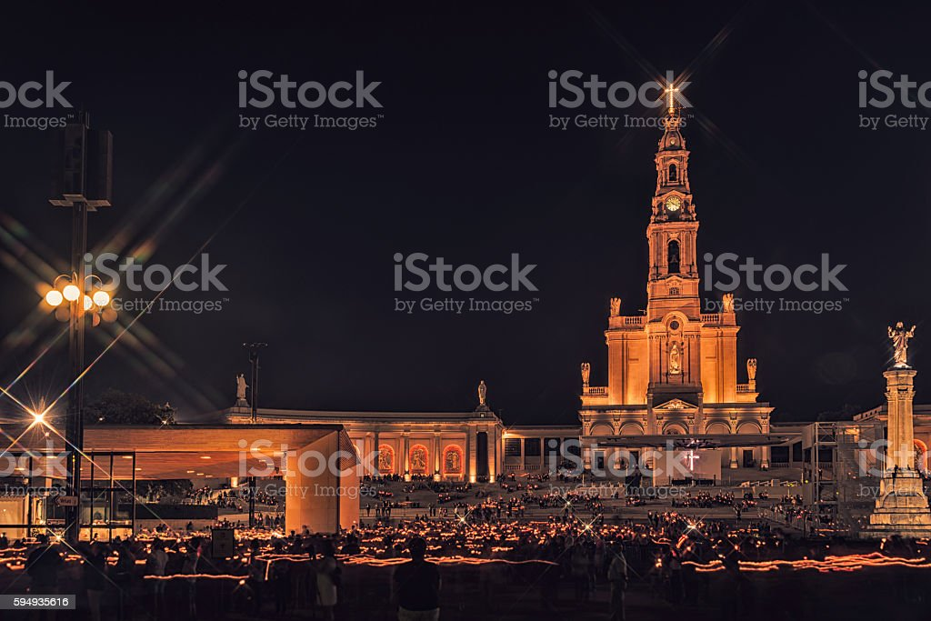 Sanctuary of Fatima, altar of the Catholic world stock photo